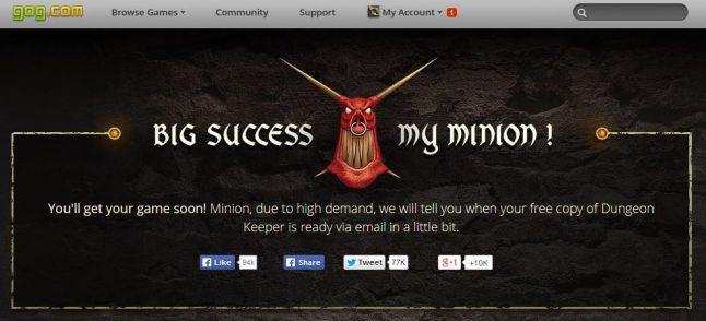 Dungeon Keeper for FREE