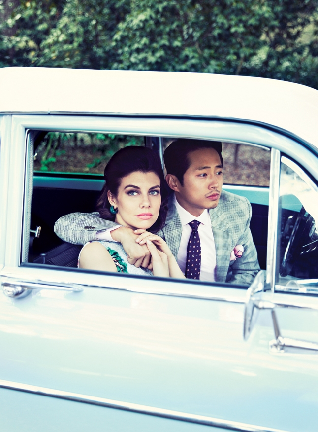 Steven Yeun and Lauren Cohan